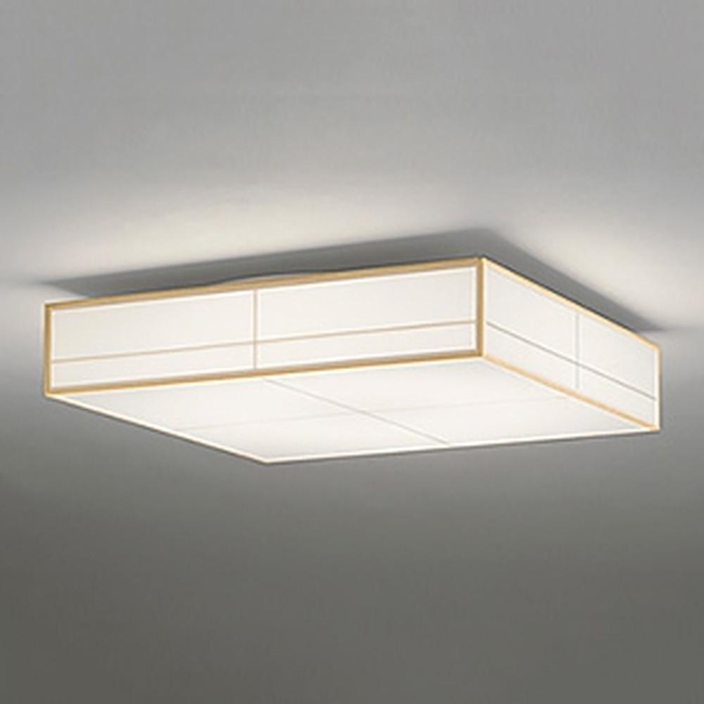 オーデリック LED和風シーリングライト ~8畳用 電球色~昼光色 調光・調色タイプ リモコン付 白木 OL291024
