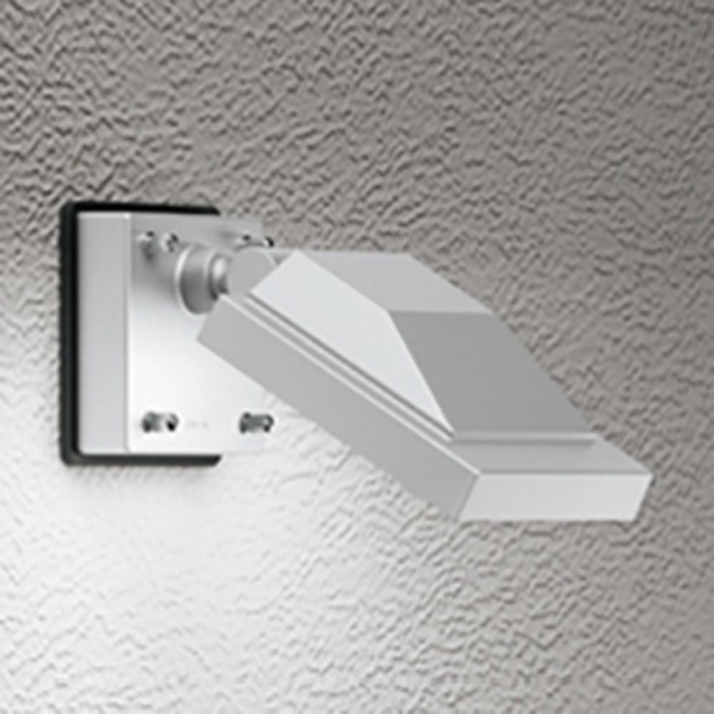 オーデリック LEDスポットライト 防雨型 壁面・天井面取付兼用 ビーム球150W相当 電球色 マットシルバー OG254680