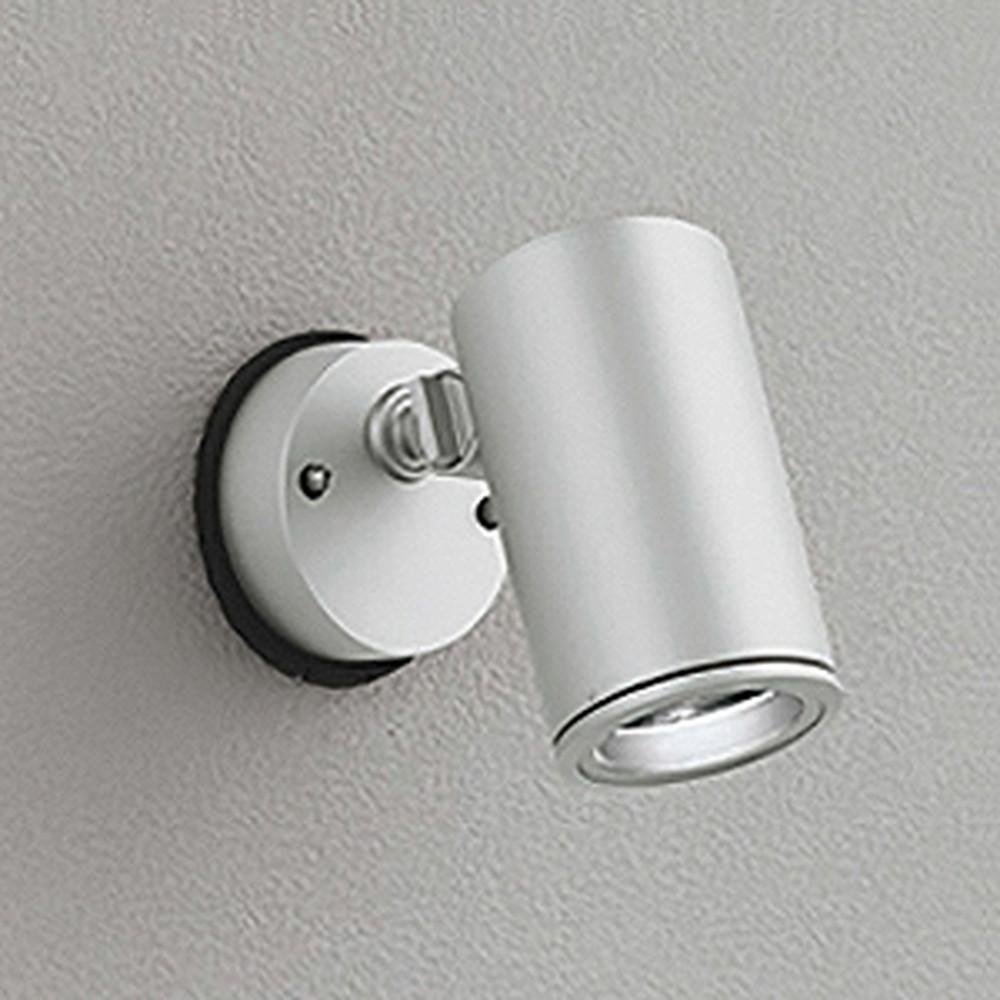 オーデリック LEDスポットライト COBタイプ 防雨型 壁面・天井面取付兼用 ビーム球150W相当 電球色 ミディアム配光 マットシルバー OG254348