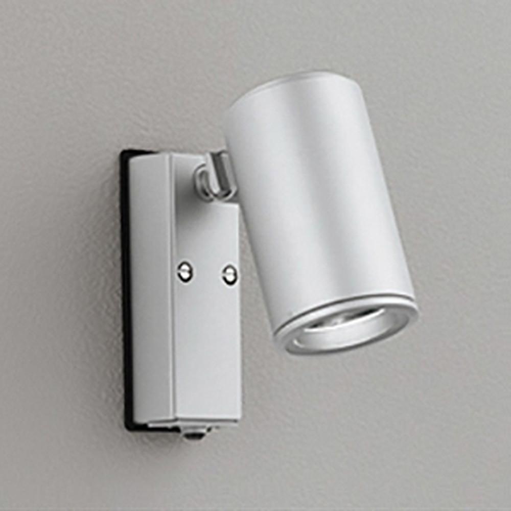 オーデリック LEDスポットライト COBタイプ 防雨型 ビーム球150W相当 昼白色 ミディアム配光 人感センサ付 マットシルバー OG254707