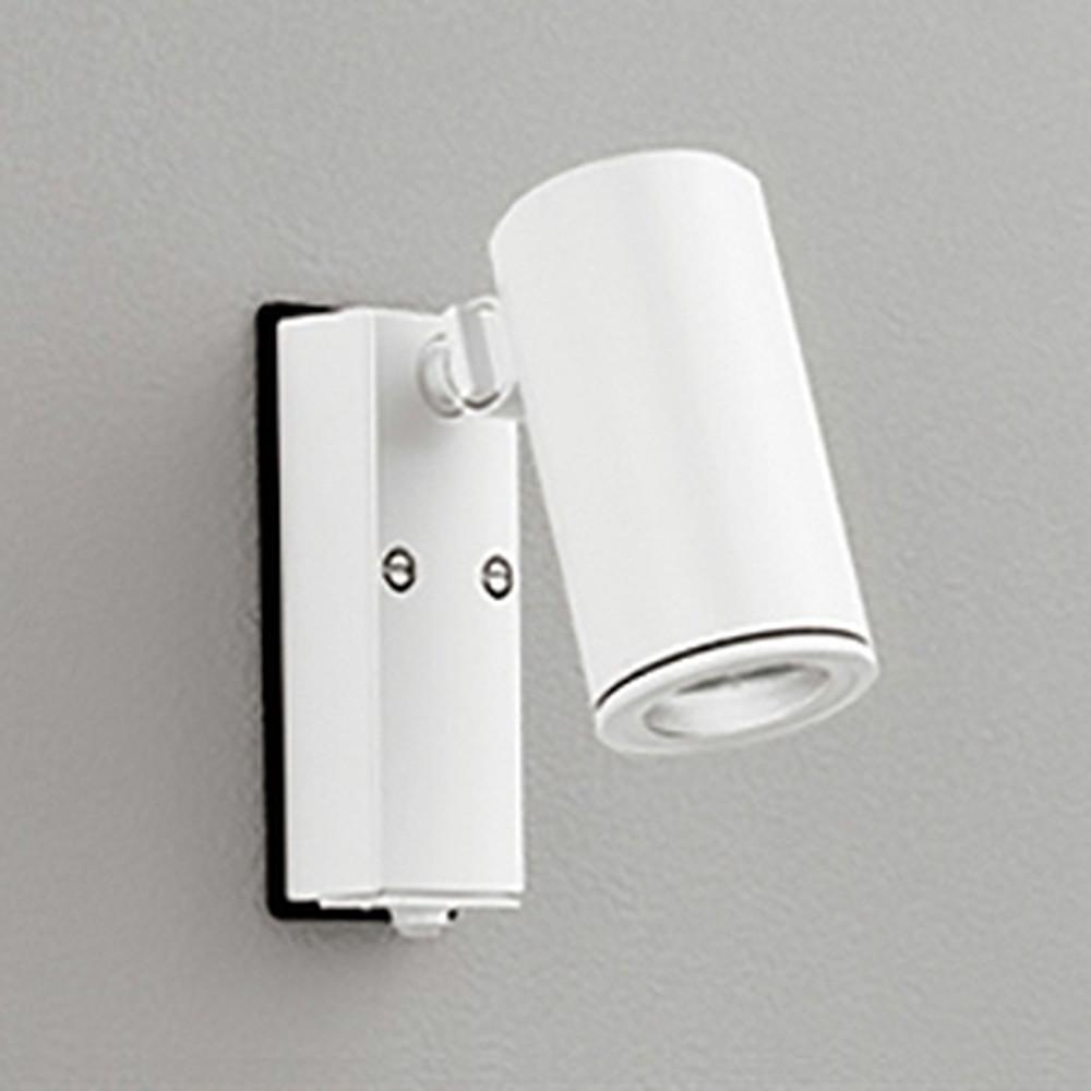 オーデリック LEDスポットライト COBタイプ 防雨型 JDR75W相当 昼白色 ワイド配光 人感センサ付 オフホワイト OG254724