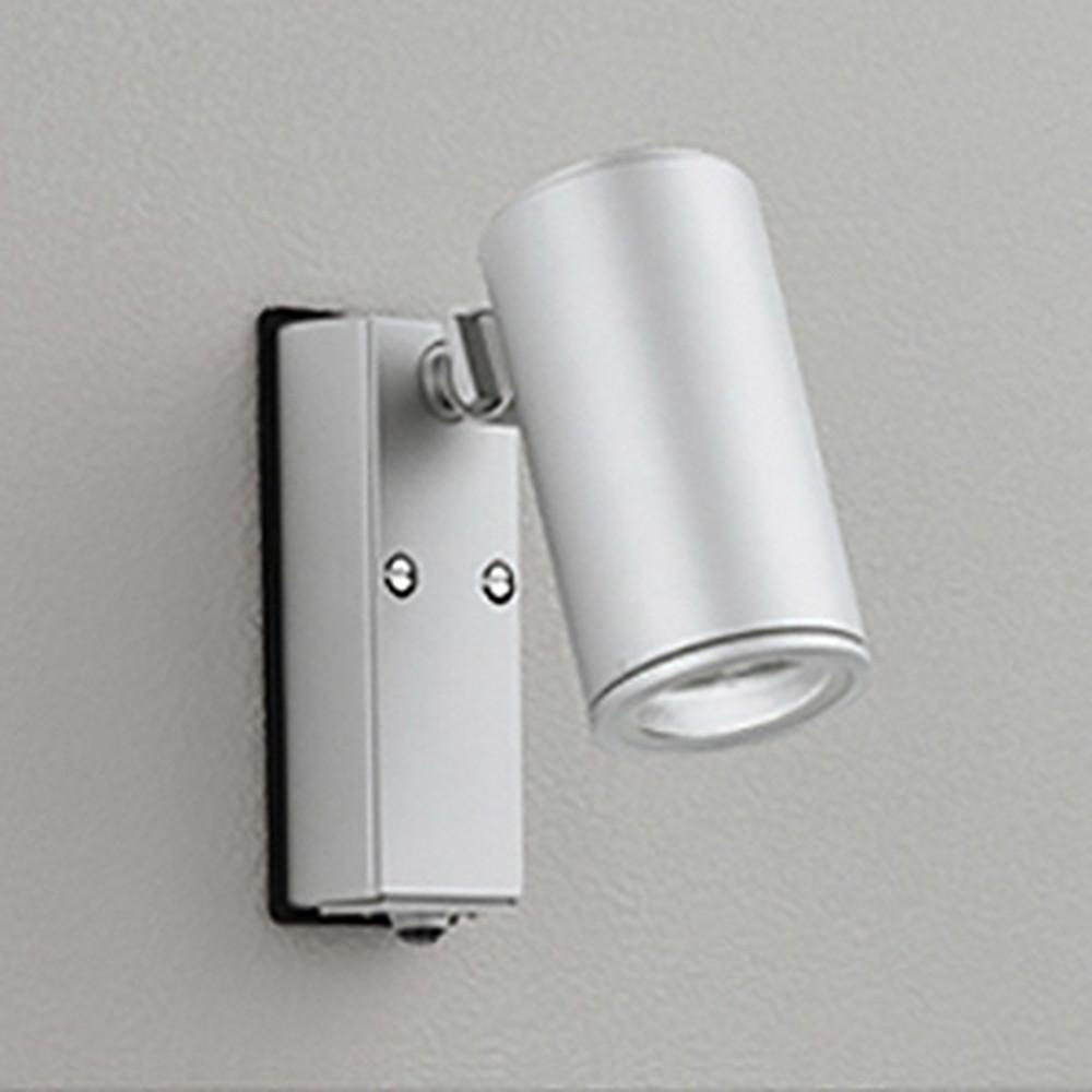 オーデリック LEDスポットライト COBタイプ 防雨型 JDR75W相当 昼白色 ミディアム配光 人感センサ付 マットシルバー OG254723