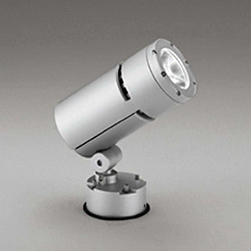 オーデリック LEDスポットライト COBタイプ 防雨型 壁面・天井面・床面取付兼用 CDM-T70W相当 電球色 ナロー配光 電源装置内蔵 マットシルバー OG254757