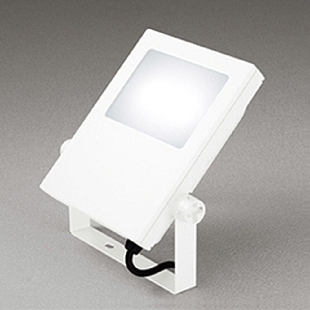 オーデリック LED投光器 防雨型 壁面・天井面・床面取付兼用 水銀灯400W相当 電球色 オフホワイト XG454026