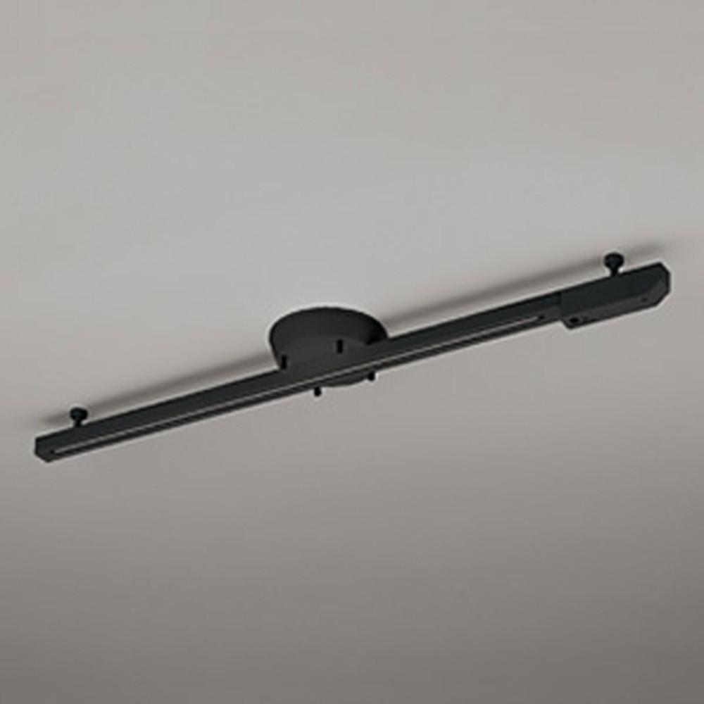 オーデリック 簡易取付ライティングダクトレール LED専用 可動タイプ ショートタイプ リモコン付 ブラック OA253362