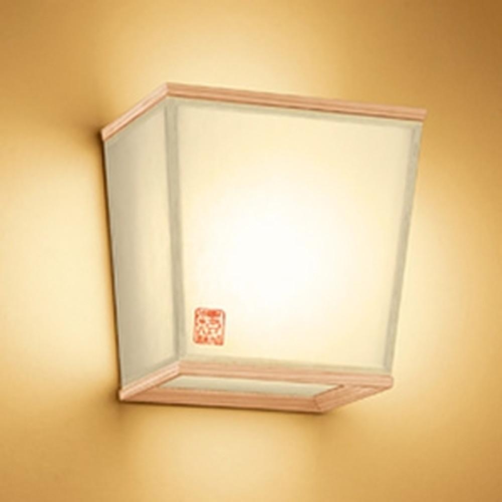 オーデリック LED和風ブラケットライト 白熱灯60W相当 電球色 秋田杉 OB255207LD