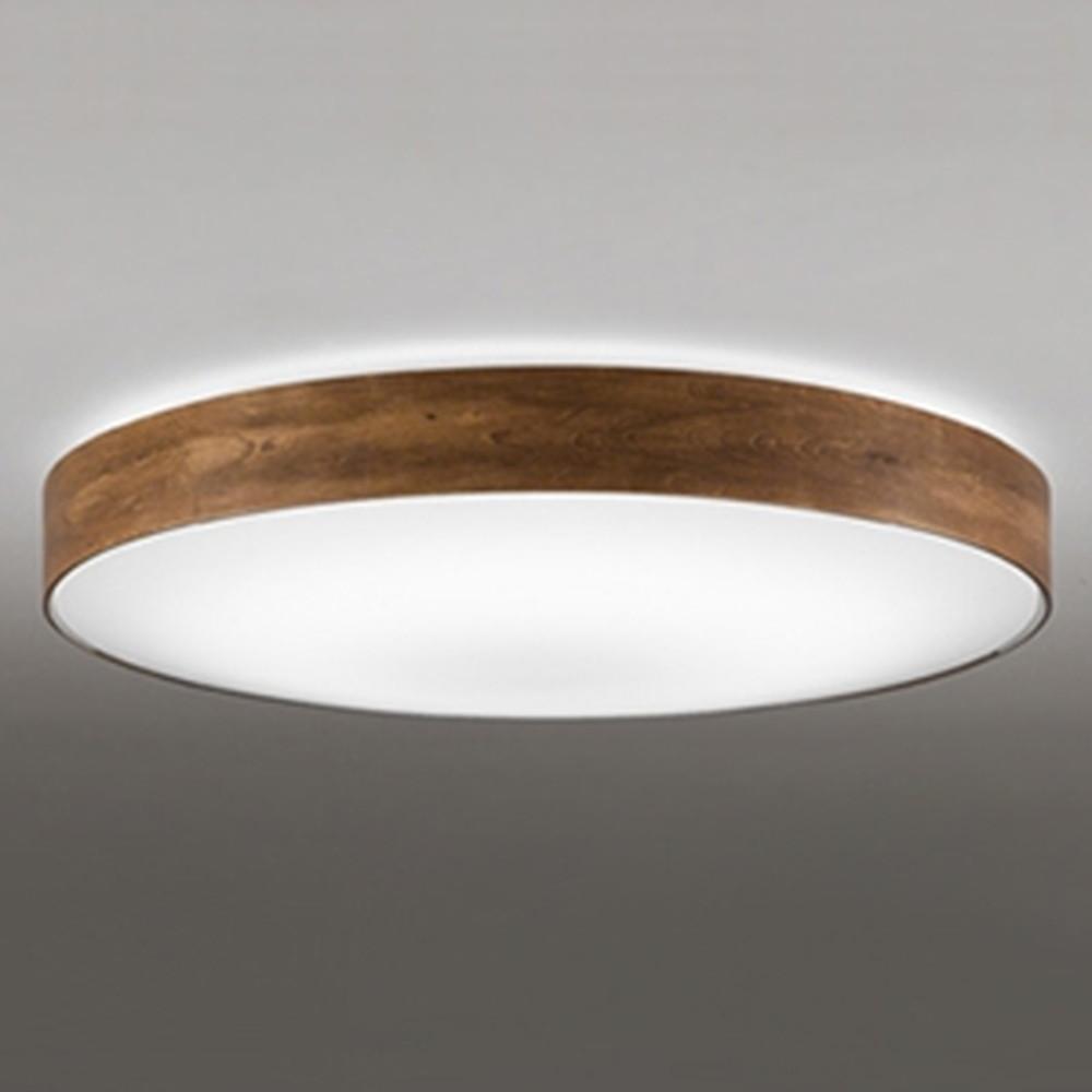 オーデリック LEDシーリングライト ~10畳用 電球色~昼光色 調光・調色タイプ リモコン付 ウォールナット OL291356