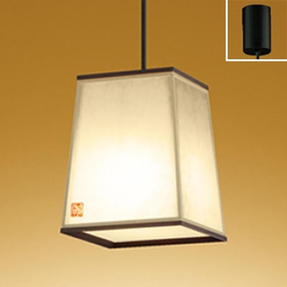 オーデリック LED和風ペンダントライト 白熱灯100W相当 電球色・昼白色 光色切替調光タイプ 杉(黒色) OP252566PC