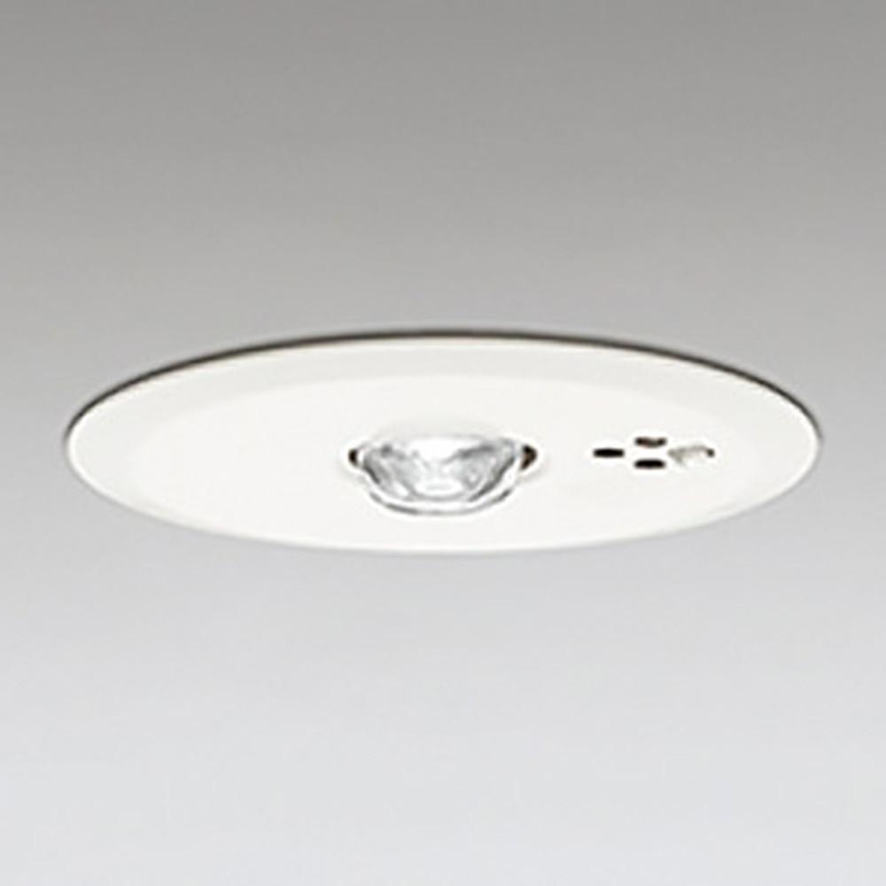 オーデリック LED非常用照明器具 浅型 高天井用(~10m) ハロゲン30W相当 埋込穴100mm 自己点検機能付 昼白色 OR036107P1