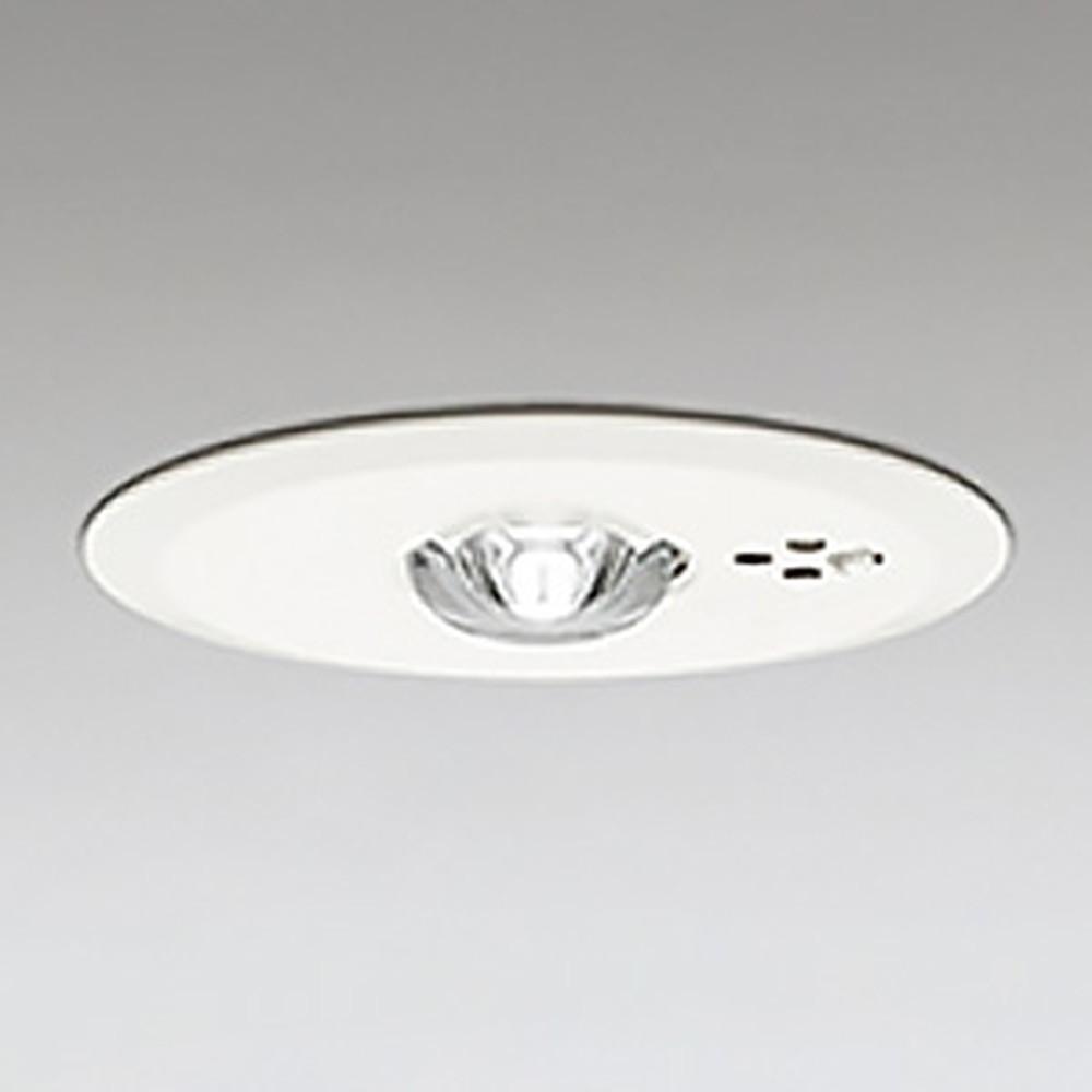 オーデリック LED非常用照明器具 浅型 中天井用(~6m) ハロゲン30W相当 埋込穴100mm 自己点検機能付 昼白色 OR036607P1