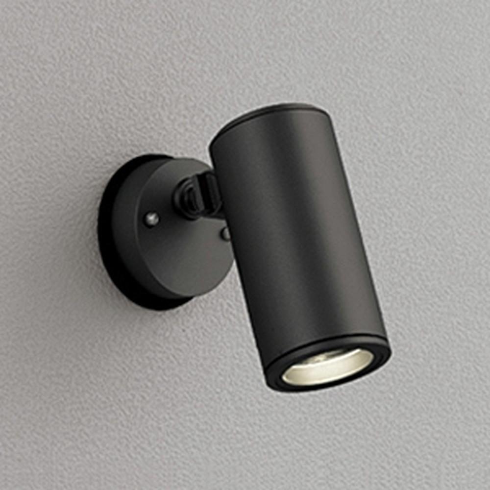 オーデリック LEDスポットライト COBタイプ 防雨型 壁面・天井面取付兼用 CDM-T35W相当 電球色 ミディアム配光 電源装置内蔵 ブラック OG254854