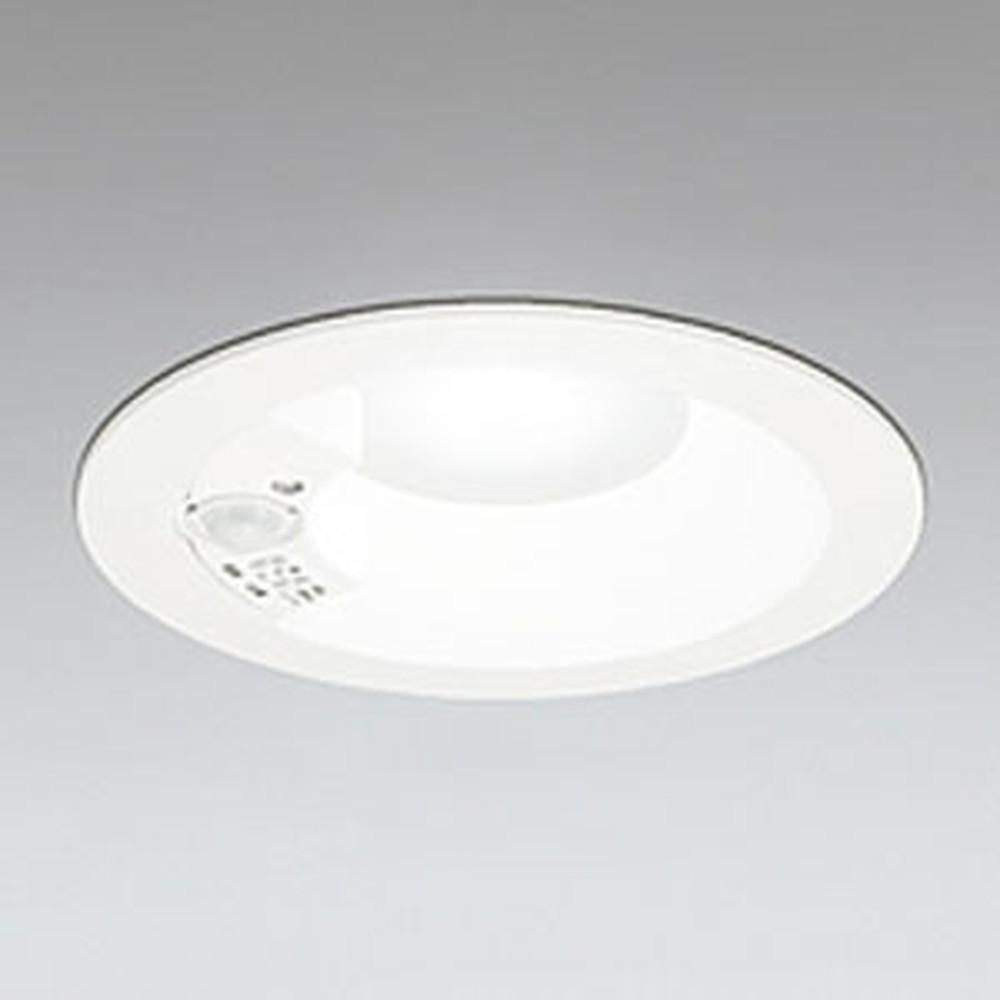 オーデリック LEDベースダウンライト 高気密SB形 白熱灯100Wクラス 温白色 埋込穴φ125 人感センサ付 オフホワイト OD261249