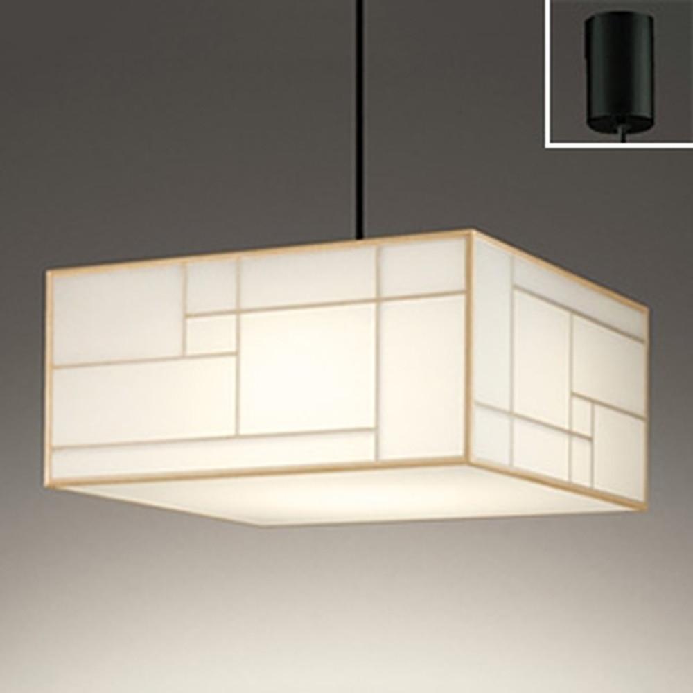オーデリック LED和風ペンダントライト ~8畳用 電球色 白木 OP252611