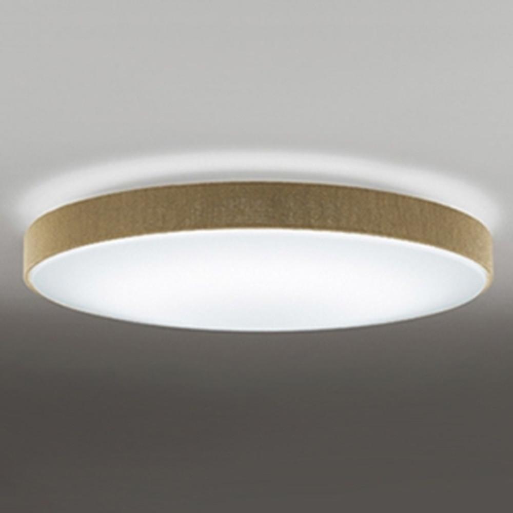 オーデリック LEDシーリングライト ~8畳用 電球色~昼光色 調光・調色タイプ リモコン付 チノベージュ OL251674P1