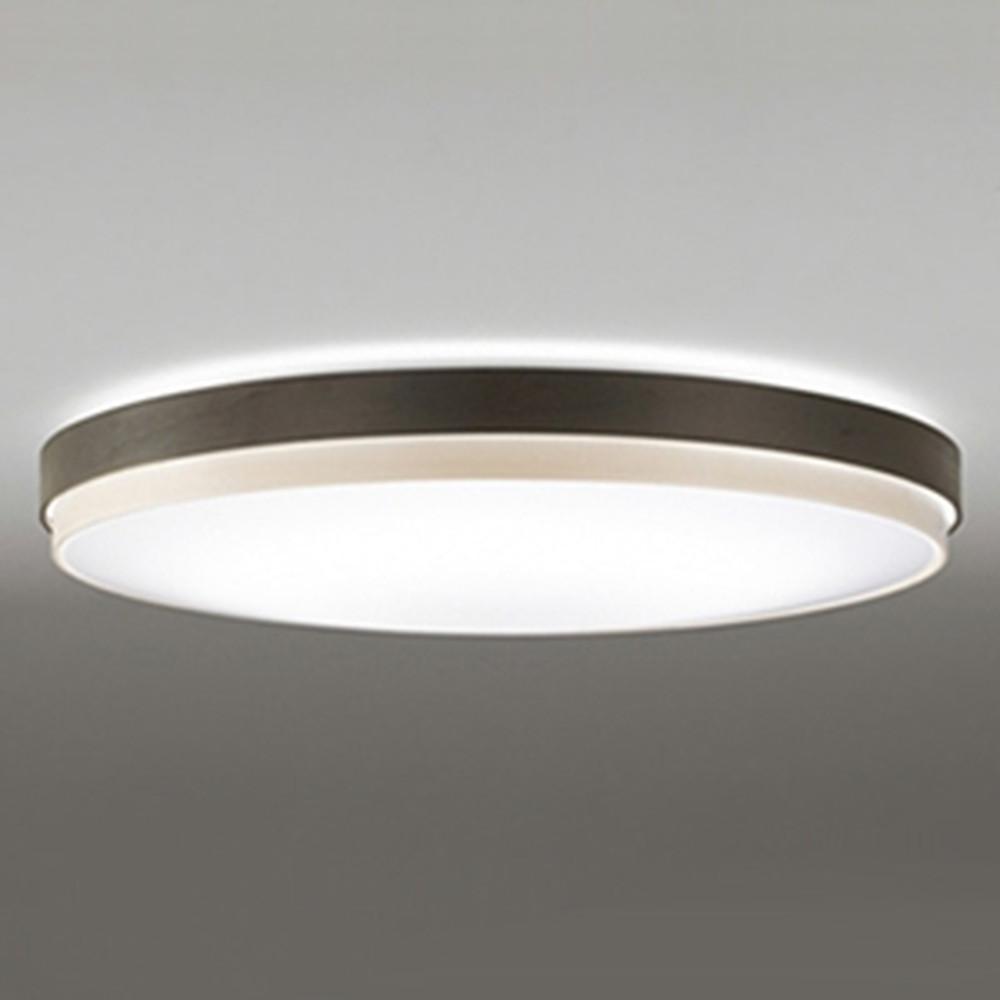 オーデリック LEDシーリングライト ~8畳用 電球色~昼光色 調光・調色タイプ リモコン付 エボニーブラウン OL291297