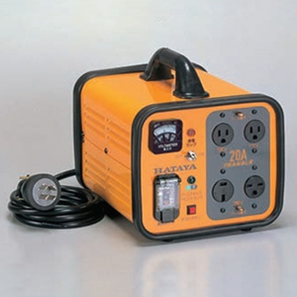 ハタヤ 電圧変換器 《トランスル》 昇降圧兼用型 入力電圧100・200V トランス容量2.0kVA HLV-02A