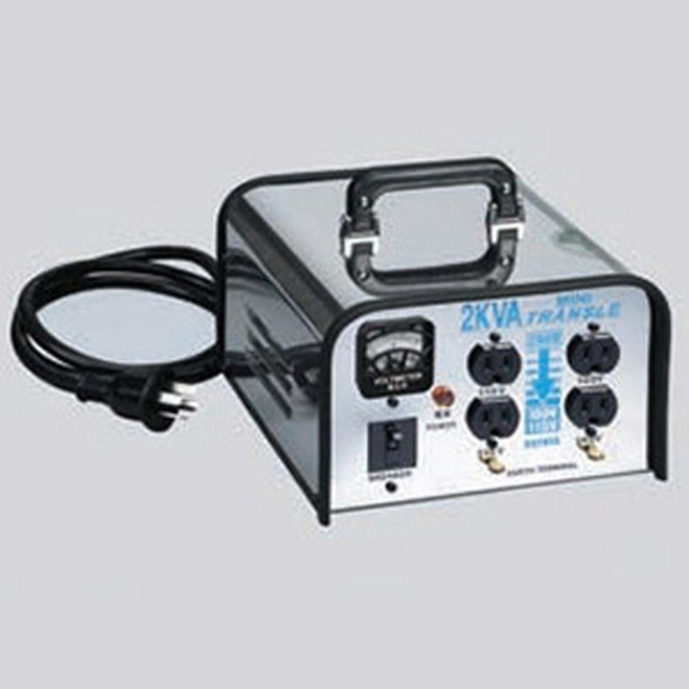 ハタヤ 電圧変換器 《ミニトランスル》 降圧型 入力電圧200V トランス容量2.0kVA LV-02CS