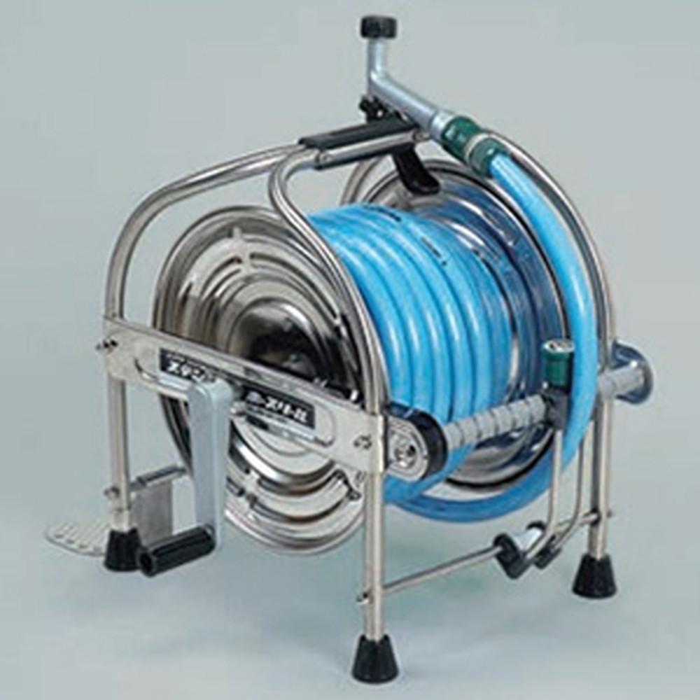 ハタヤ ステンレスホースリール 20mタイプ 耐圧防藻ホース・レバーノズル付 SSA-20P