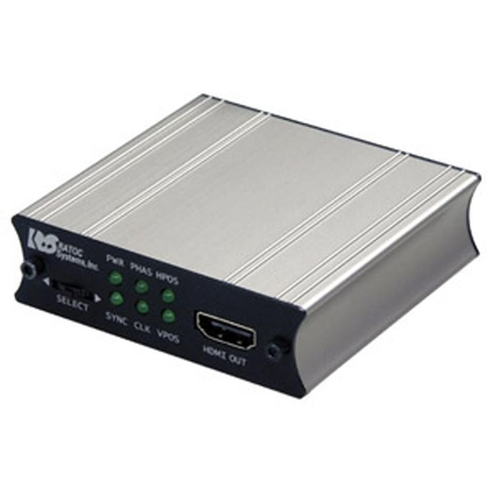 ラトックシステム 変換アダプタ VGA→HDMI AC給電モデル オーディオ対応 倍速液晶パネル対応 REX-VGA2HDMI-AC