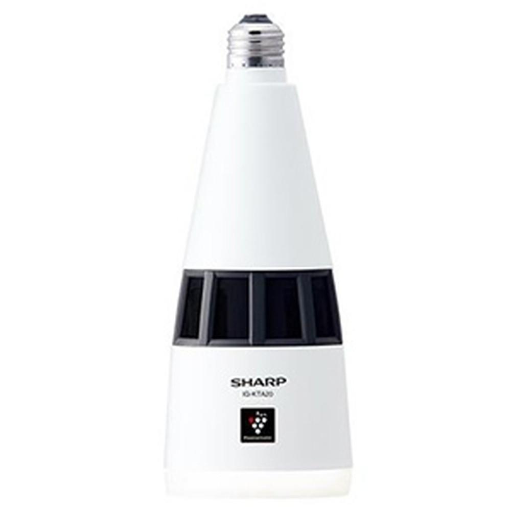 シャープ プラズマクラスターイオン発生機 《ニオワンLEDプラス》 トイレ用 天井設置型タイプ 白熱電球40W相当 電球色 E26口金 人感センサー搭載 IG-KTA20-W
