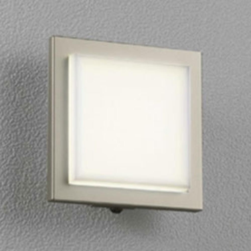 オーデリック LED一体型ポーチライト 防雨型 白熱灯60W相当 電球色 人感センサ付 マットウォームシルバー OG254008