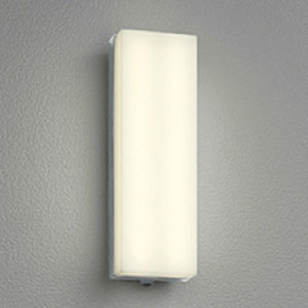 オーデリック LED一体型ポーチライト 防雨型 フラットタイプ 白熱灯60W相当 電球色 人感センサ付 鏡面 OG254246