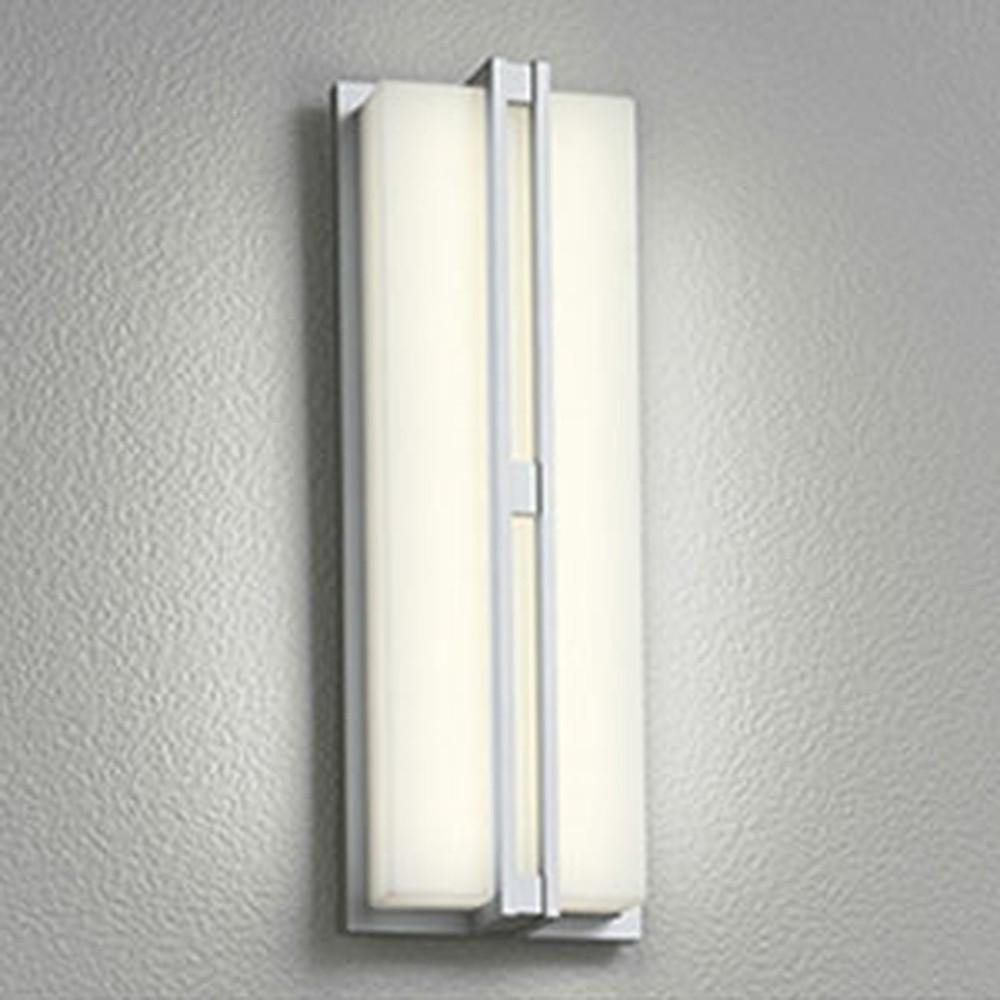 オーデリック LED一体型ポーチライト 防雨型 フラットタイプ 白熱灯60W相当 電球色 人感センサ付 OG254248