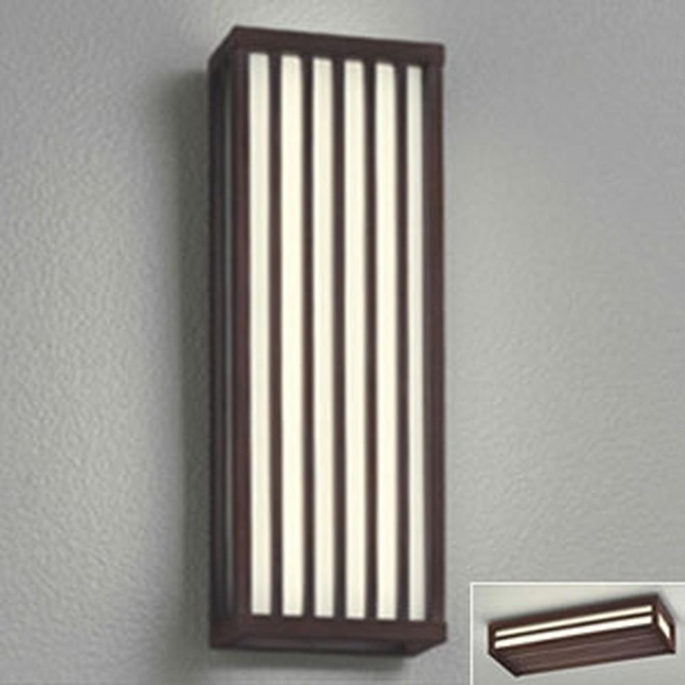 オーデリック LED一体型ポーチライト 防雨型 フラットタイプ 壁面・天井面・傾斜面取付兼用 縦・横取付可能 白熱灯60W相当 電球色 別売センサ対応 民芸塗 OG254257