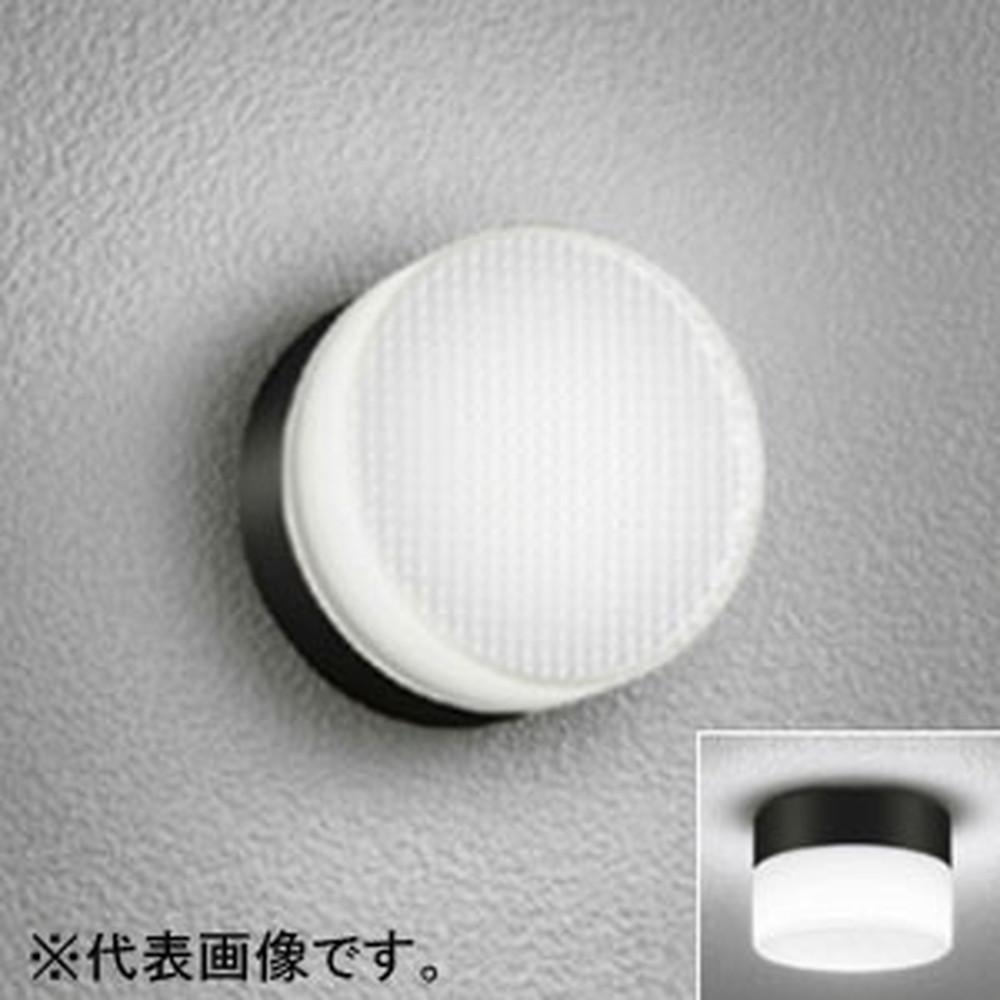 オーデリック LEDポーチライト 防雨・防湿型 壁面・天井面・傾斜面取付兼用 白熱灯60W相当 昼白色 黒 OG254193ND
