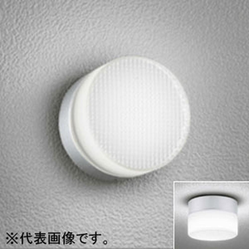 オーデリック LEDポーチライト 防雨・防湿型 壁面・天井面・傾斜面取付兼用 白熱灯60W相当 電球色 マットシルバー OG254194LD