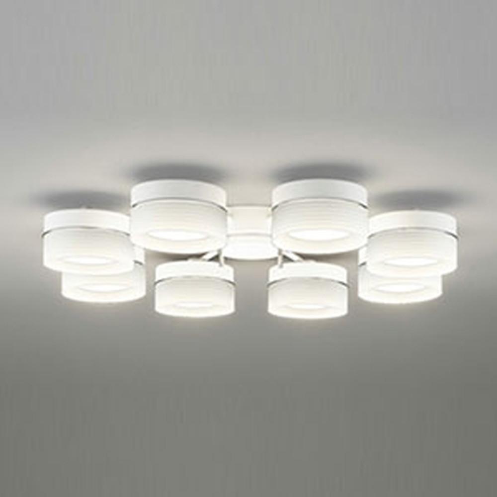 オーデリック LEDシャンデリア ~10畳用 6.8W×8灯タイプ 電球色 調光タイプ OC257014LC