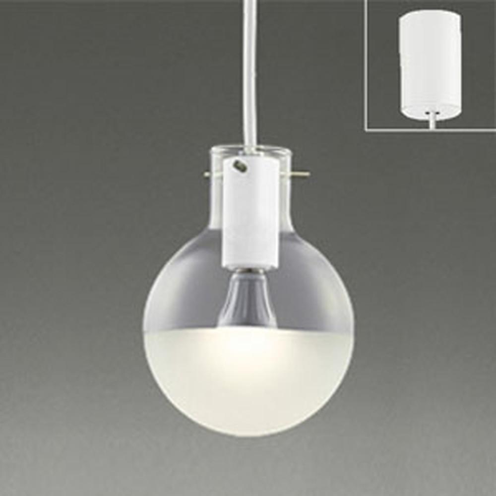 オーデリック LEDペンダントライト 引掛シーリングタイプ 白熱灯60W相当 電球色 マットホワイト OP252161LD