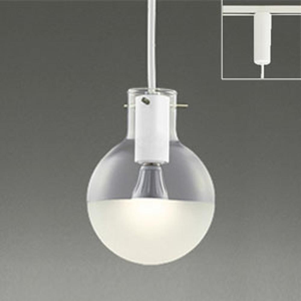 オーデリック LEDペンダントライト ライティングレール取付専用 白熱灯60W相当 電球色 マットホワイト OP252162LD