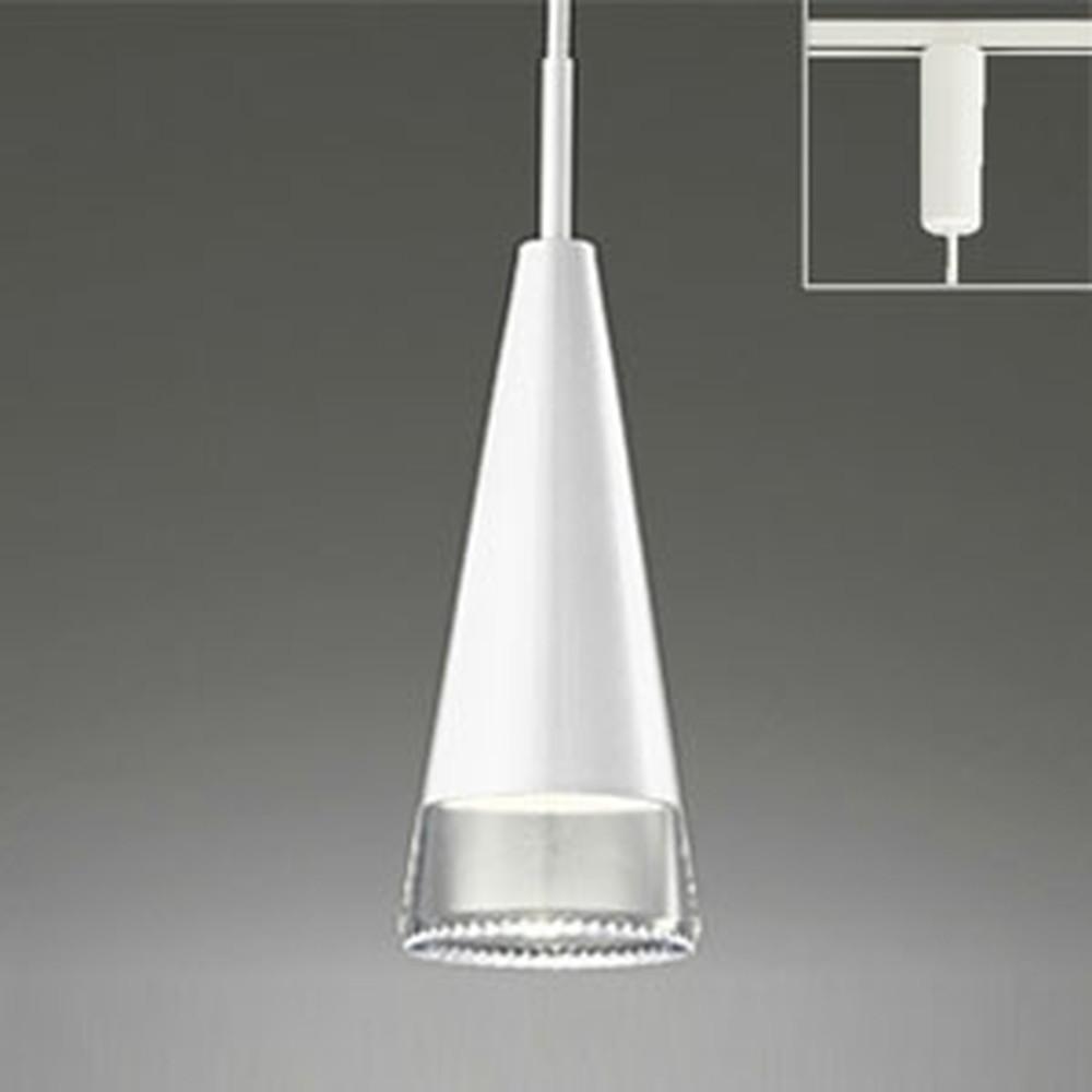 オーデリック LEDペンダントライト 《OPT-deco》 ライティングレール取付専用 白熱灯60W相当 電球色 調光タイプ ピアノホワイト OP252226LC