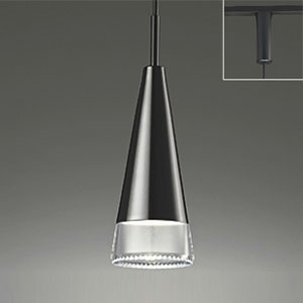 オーデリック LEDペンダントライト 《OPT-deco》 ライティングレール取付専用 白熱灯60W相当 電球色 調光タイプ ピアノブラック OP252228LC