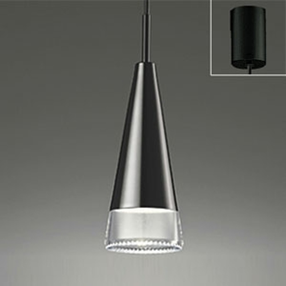 オーデリック LEDペンダントライト 《OPT-deco》 引掛シーリングタイプ 白熱灯60W相当 電球色 調光タイプ ピアノブラック OP252227LC