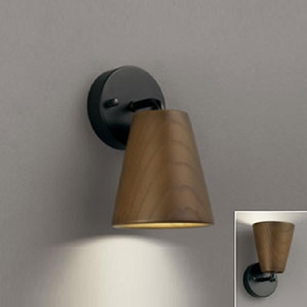 オーデリック LEDブラケットライト 《Natural Gear》 上向き・下向き取付可能 白熱灯60W相当 電球色 調光タイプ 黒 OB255034LC