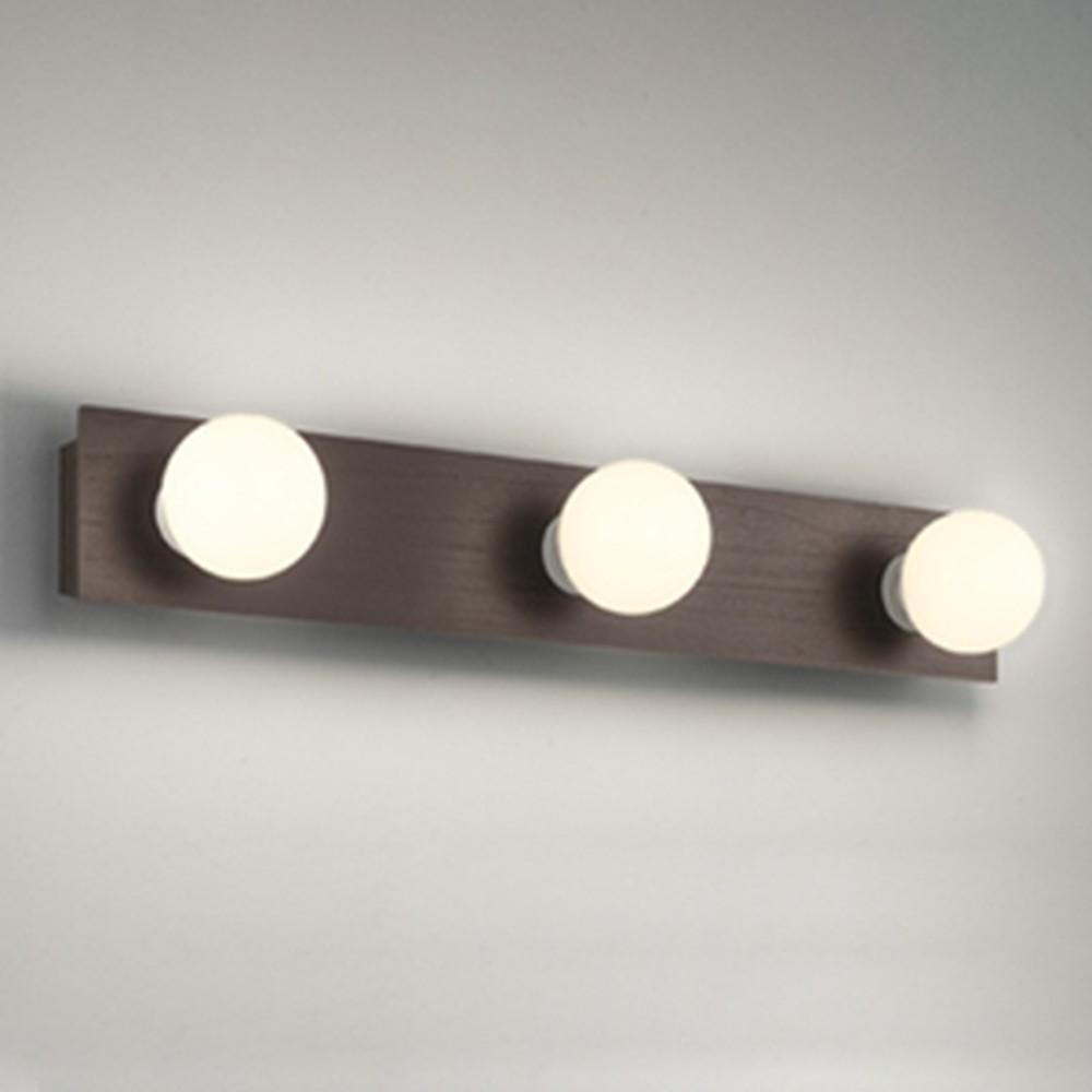 オーデリック LEDブラケットライト 壁面・天井面取付兼用 縦・横向き取付可能 白熱灯60W×3灯相当 電球色 エボニーブラウン OB080899LD