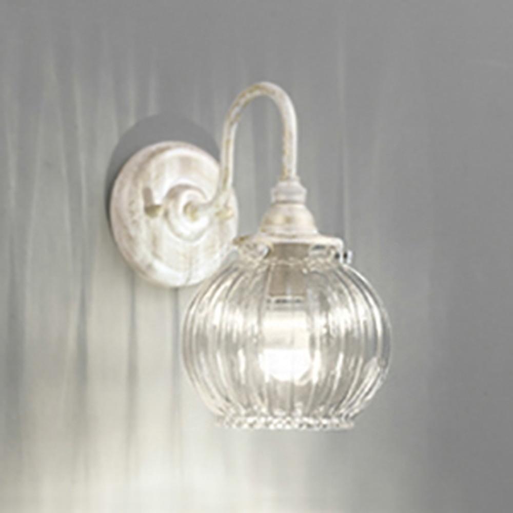 オーデリック LEDブラケットライト 白熱灯40W相当 電球色~昼光色 調光・調色タイプ Bluetooth®対応 乳白ケシガラス OB081054BC