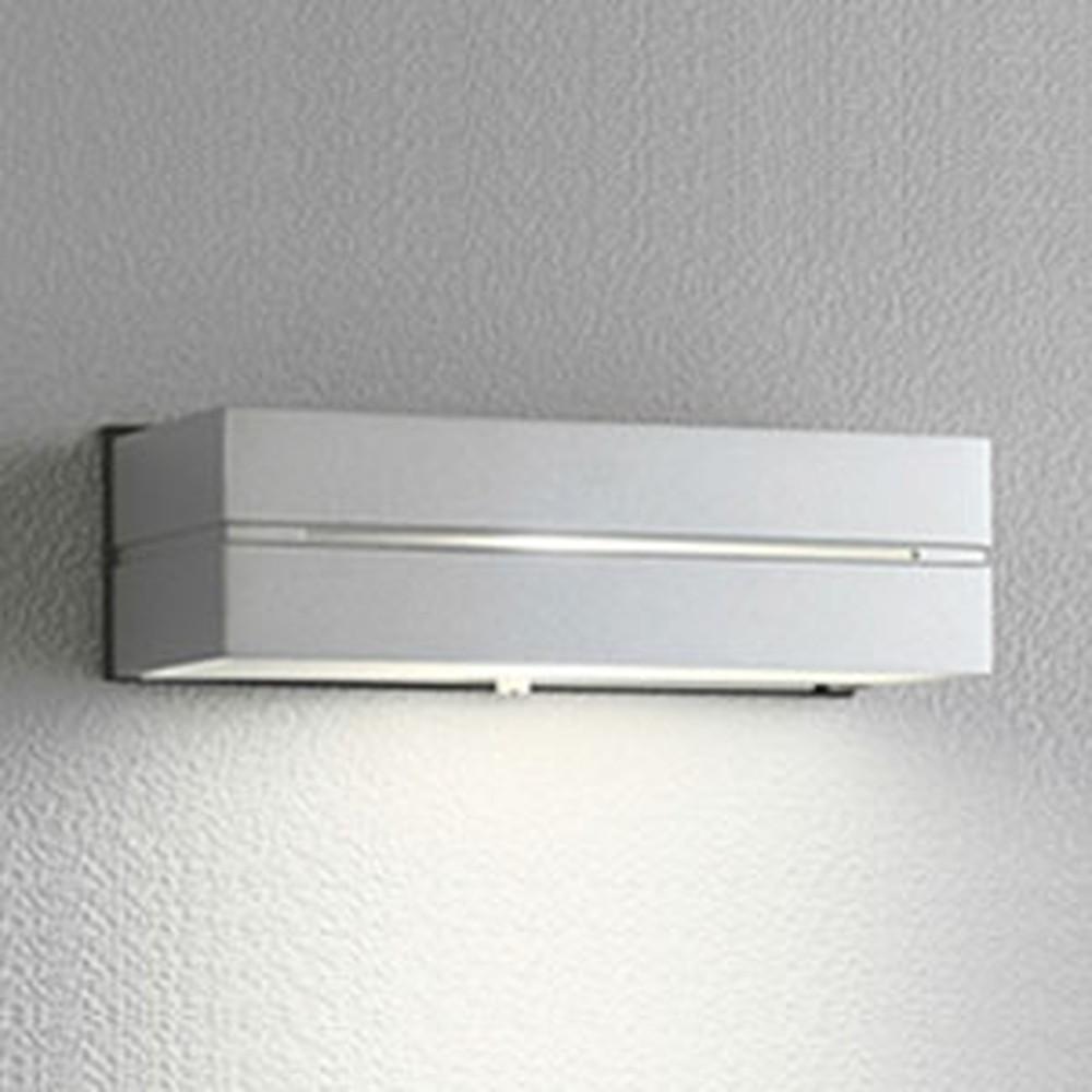 オーデリック LEDポーチライト 防雨型 下面配光タイプ 白熱灯40W相当 電球色 明暗センサ付 マットシルバー OG042171LD