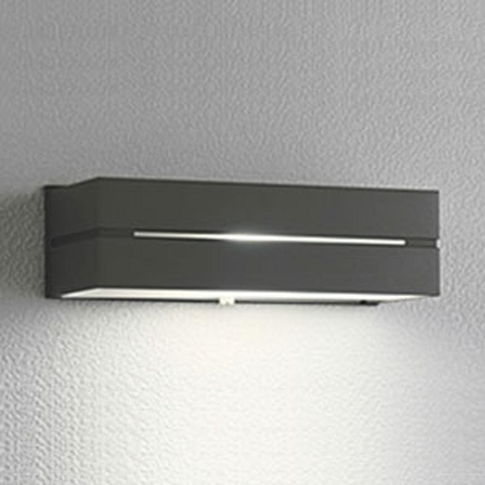 オーデリック LEDポーチライト 防雨型 下面配光タイプ 白熱灯40W相当 電球色 明暗センサ付 黒色サテン OG042173LD