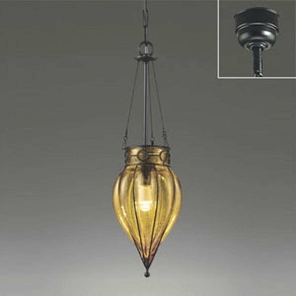 オーデリック LEDペンダントライト 白熱灯40W相当 電球色 セピア OP034260LD