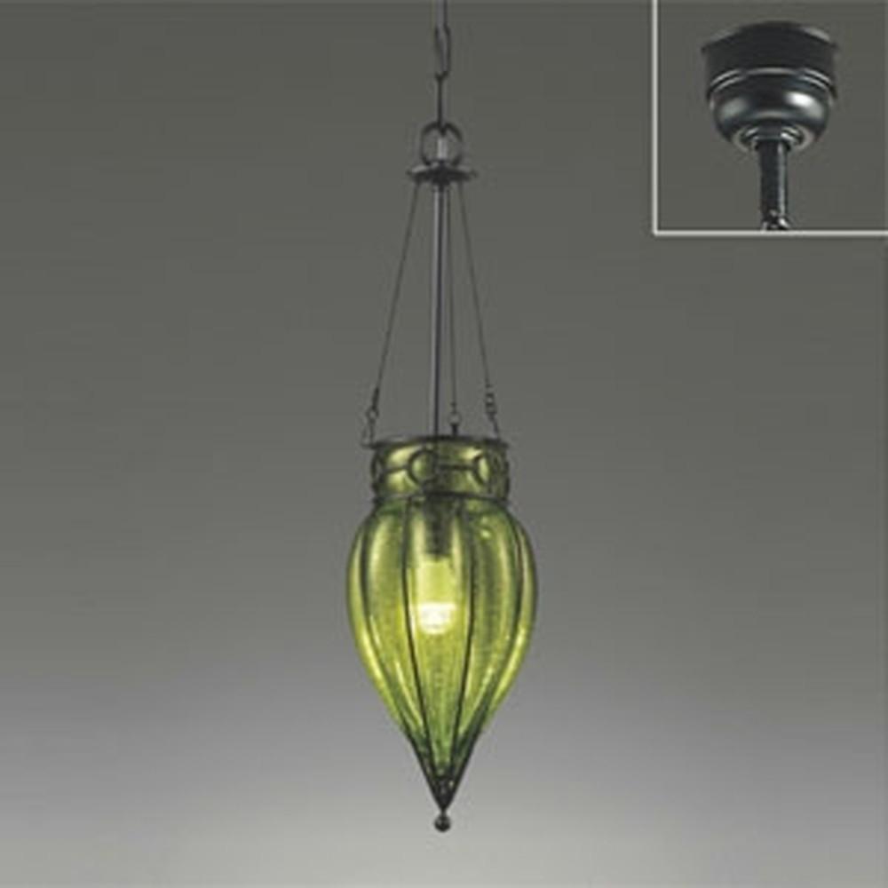 オーデリック LEDペンダントライト 白熱灯40W相当 電球色 グリーン OP034261LD