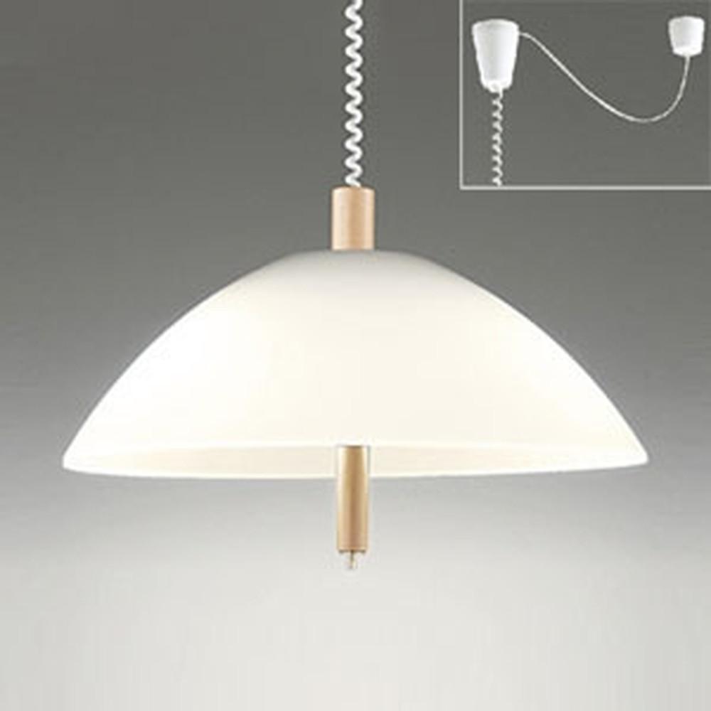 オーデリック LEDペンダントライト 手動昇降型 白熱灯100W×2灯相当 電球色 プルスイッチ付 OP087150LD
