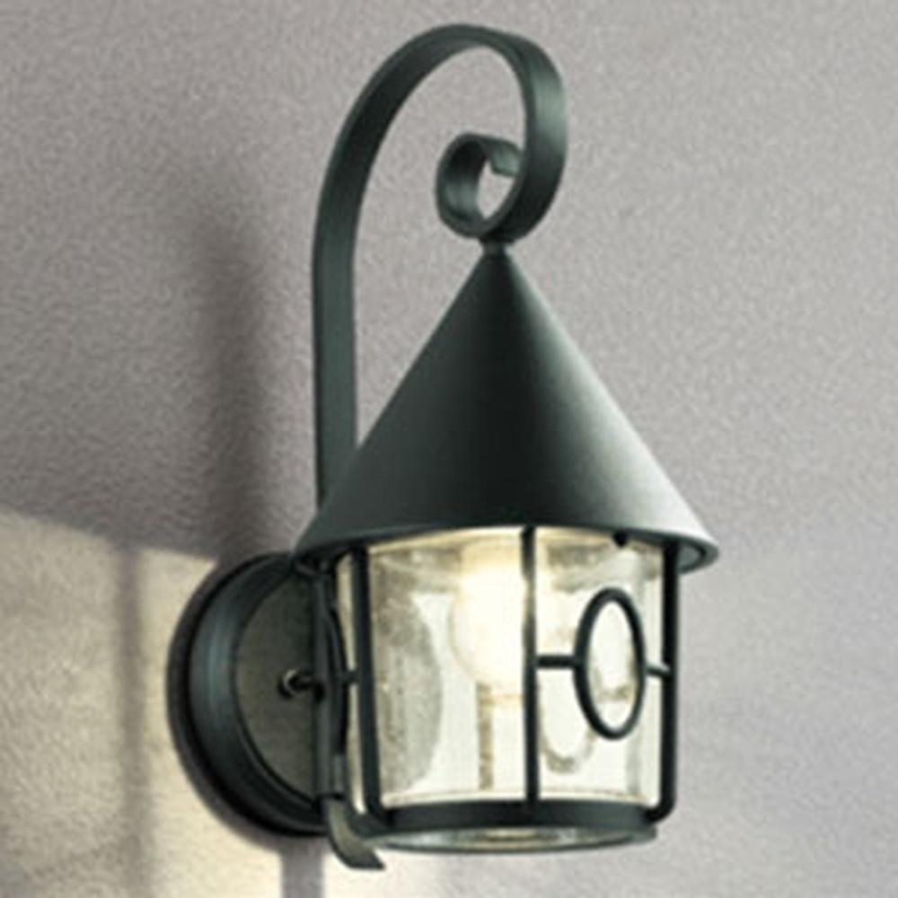 オーデリック LEDポーチライト 防雨型 白熱灯40W相当 電球色 別売センサ対応 黒 OG254432LC
