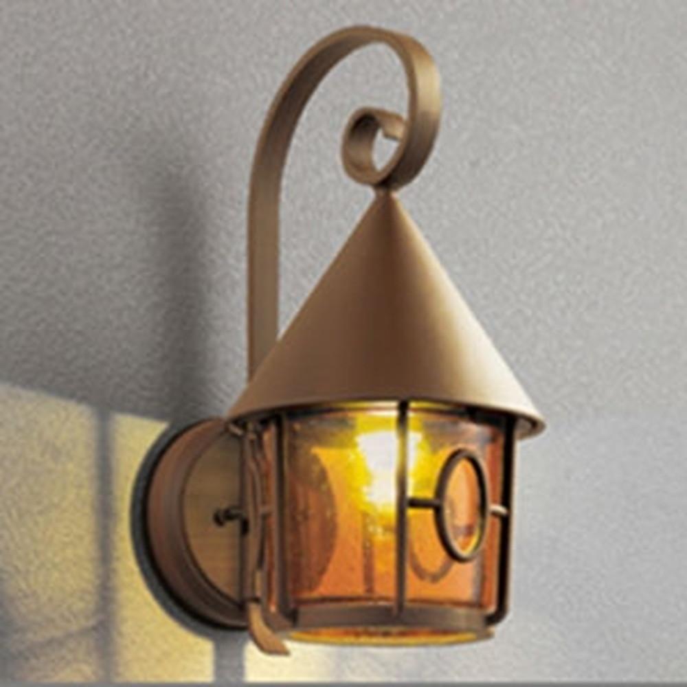 オーデリック LEDポーチライト 防雨型 白熱灯40W相当 電球色 別売センサ対応 鉄錆 OG254433LC