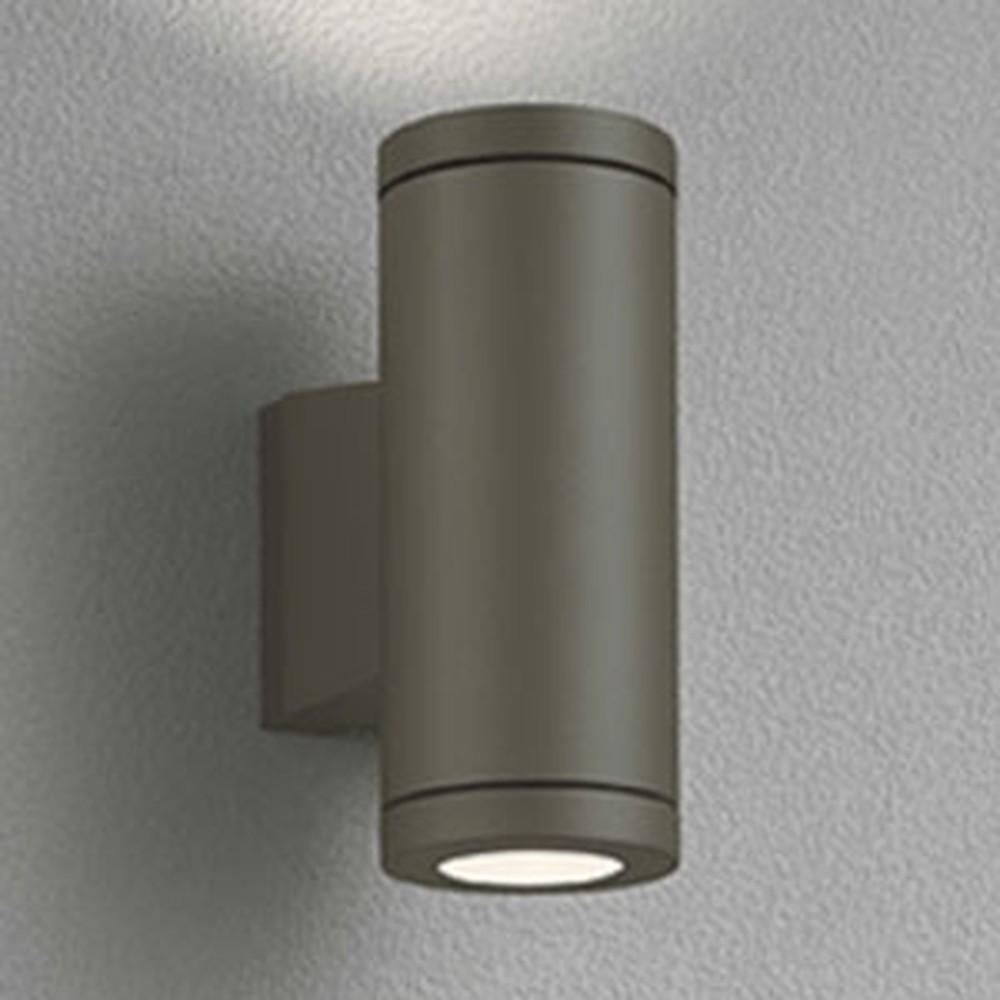 オーデリック LEDポーチライト 防雨型 上下配光タイプ JDR50W×2灯相当 E11口金 ランプ別売 ダークウォームグレー OG254388