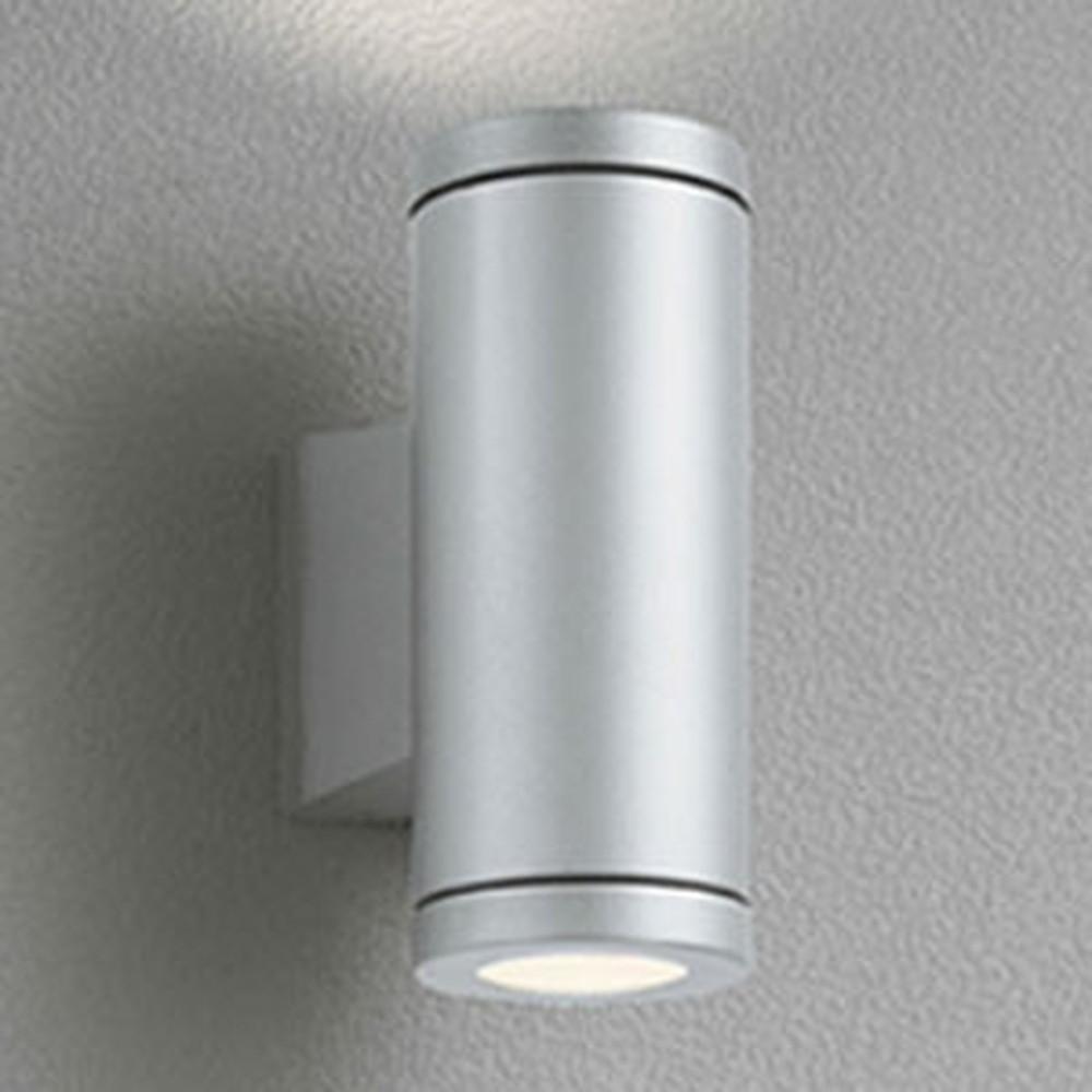 オーデリック LEDポーチライト 防雨型 上下配光タイプ JDR50W×2灯相当 E11口金 ランプ別売 マットシルバー OG254387
