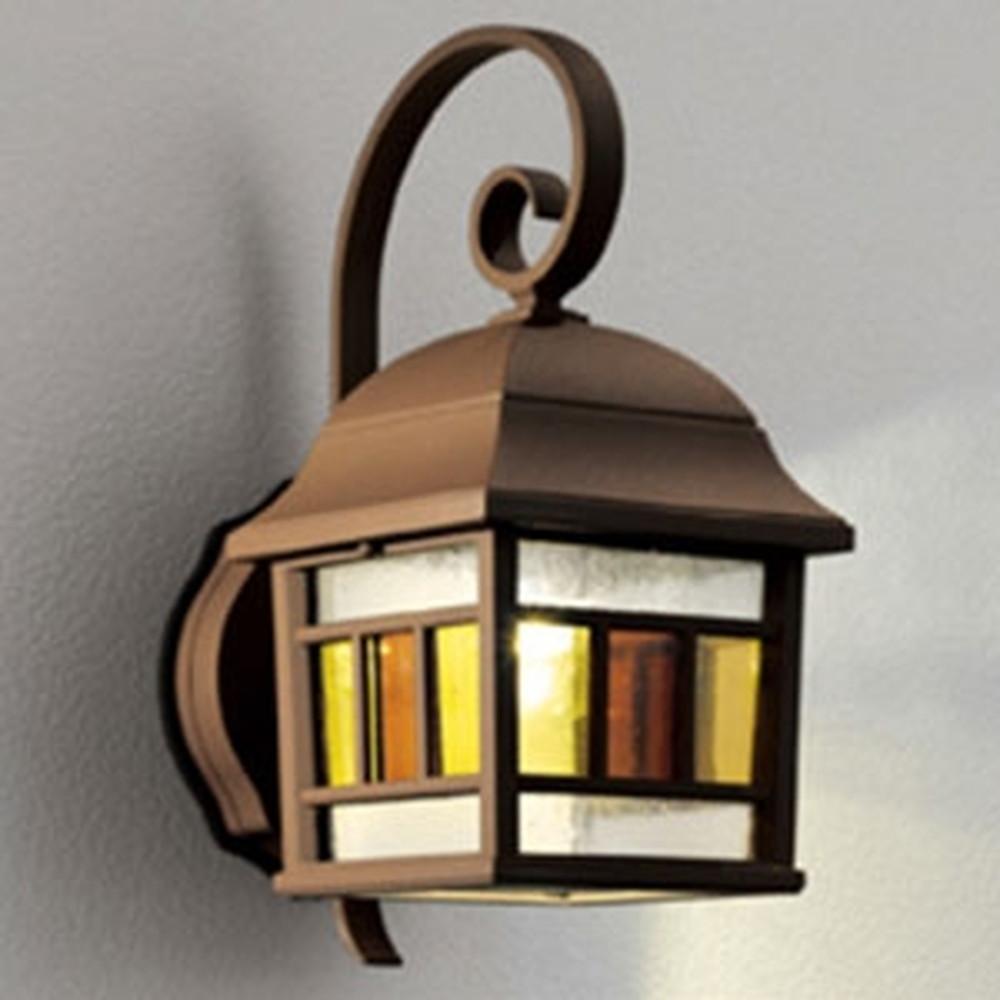 オーデリック LEDポーチライト 防雨型 白熱灯40W相当 電球色 別売センサ対応 鉄錆 OG041733LC