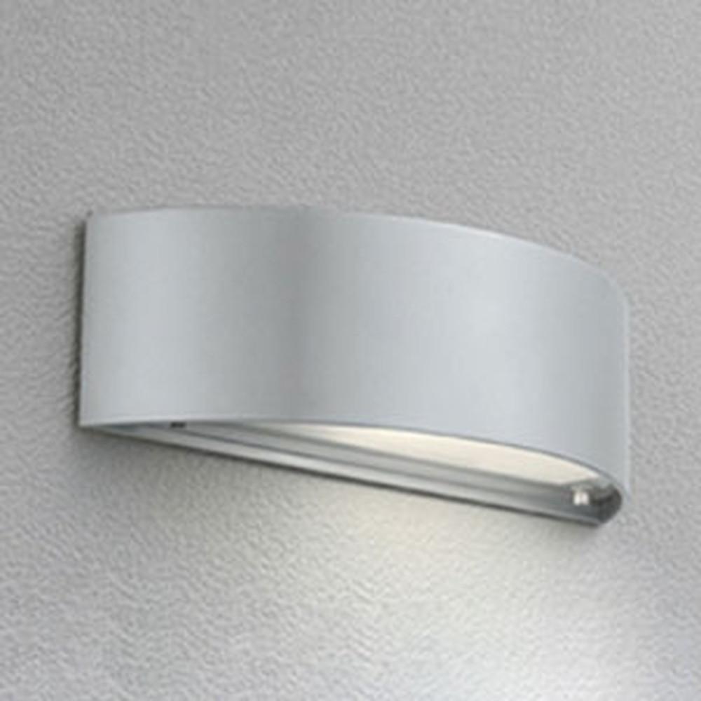オーデリック LEDポーチライト 防雨型 下面配光タイプ 電球色 別売センサ対応 マットシルバー OG041482LC